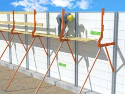 ICF Metal Bracing & Scaffolding System - Click for high res