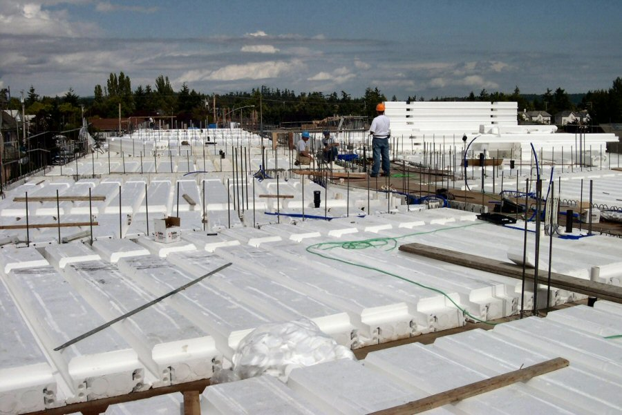 Insulating concrete forms quad deck for floors roofs and for Icf concrete floors