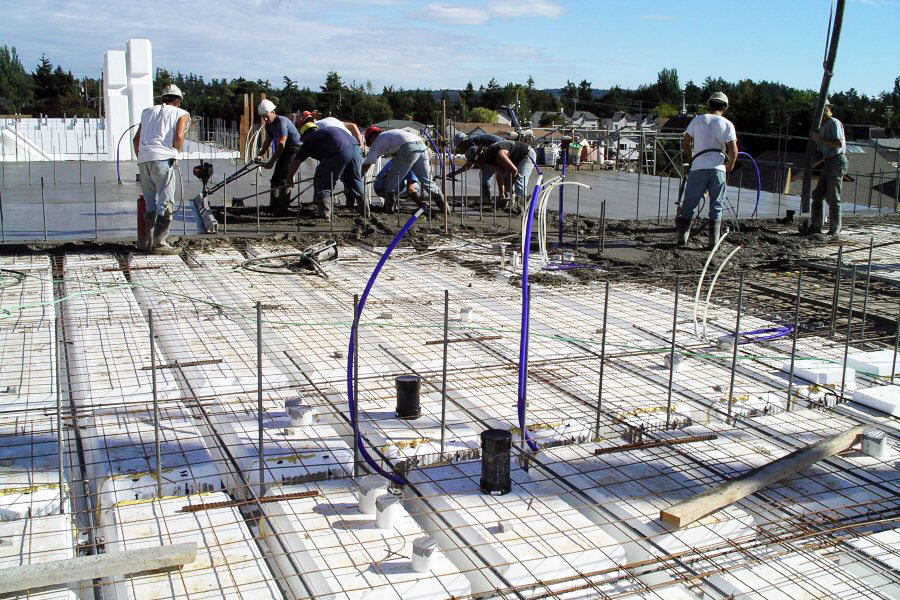 Quad deck insulated concrete forms for floors roofs and for Icf concrete roof