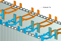 ICF Wide Wall Assembly with Extender Ties - 18 in.