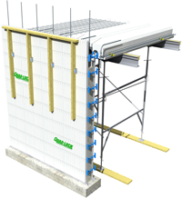 ICF Slab Installation using Slab Ties
