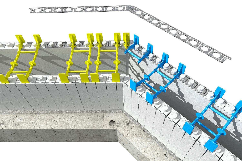 Quad lock brackets insulated concrete forms quad lock for Concrete icf