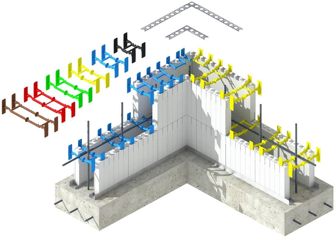 The strongest ICF corners by Quad-Lock