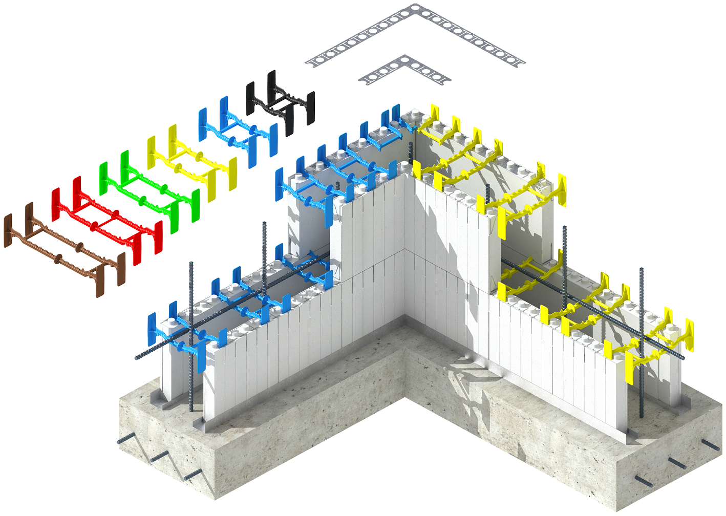 Quad Lock Concrete Forms