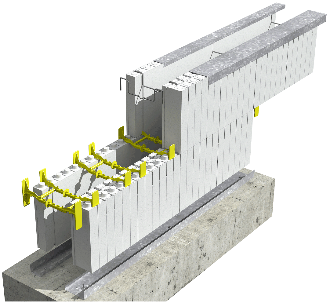 Insulated concrete forms icf 3d drawings for Icf basement construction