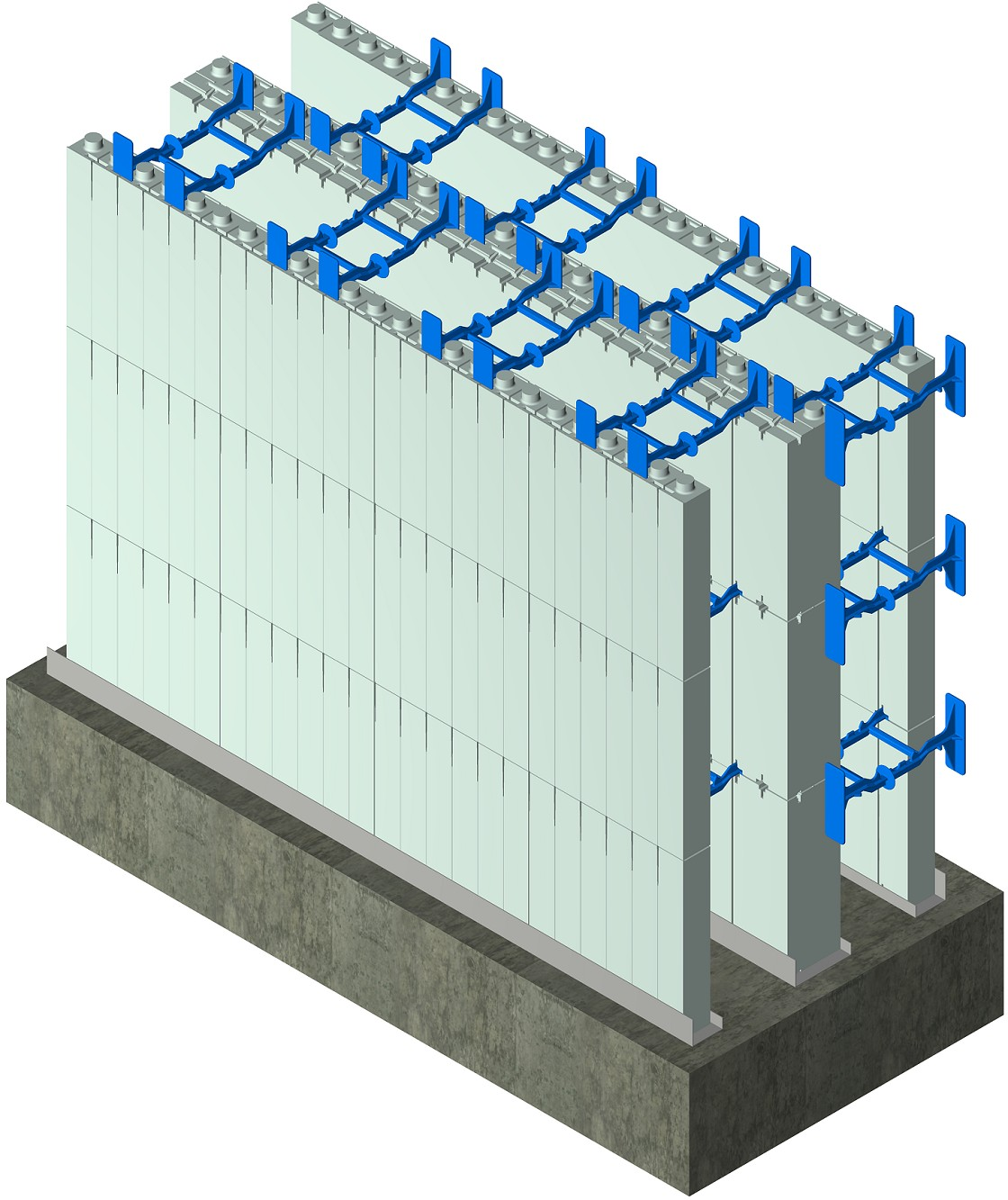 Double Wall Building : Insulated concrete forms icf d drawings