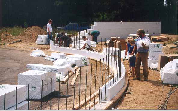 Insulating concrete form for Foam concrete forms