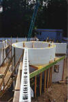 ICF Silo with joining walls