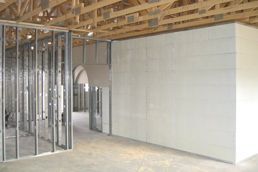 Interior Wall Construction Example