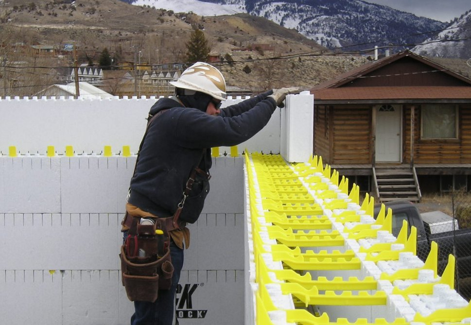 Concrete Building Panels : Icf project profile leed homes in yellowstone park