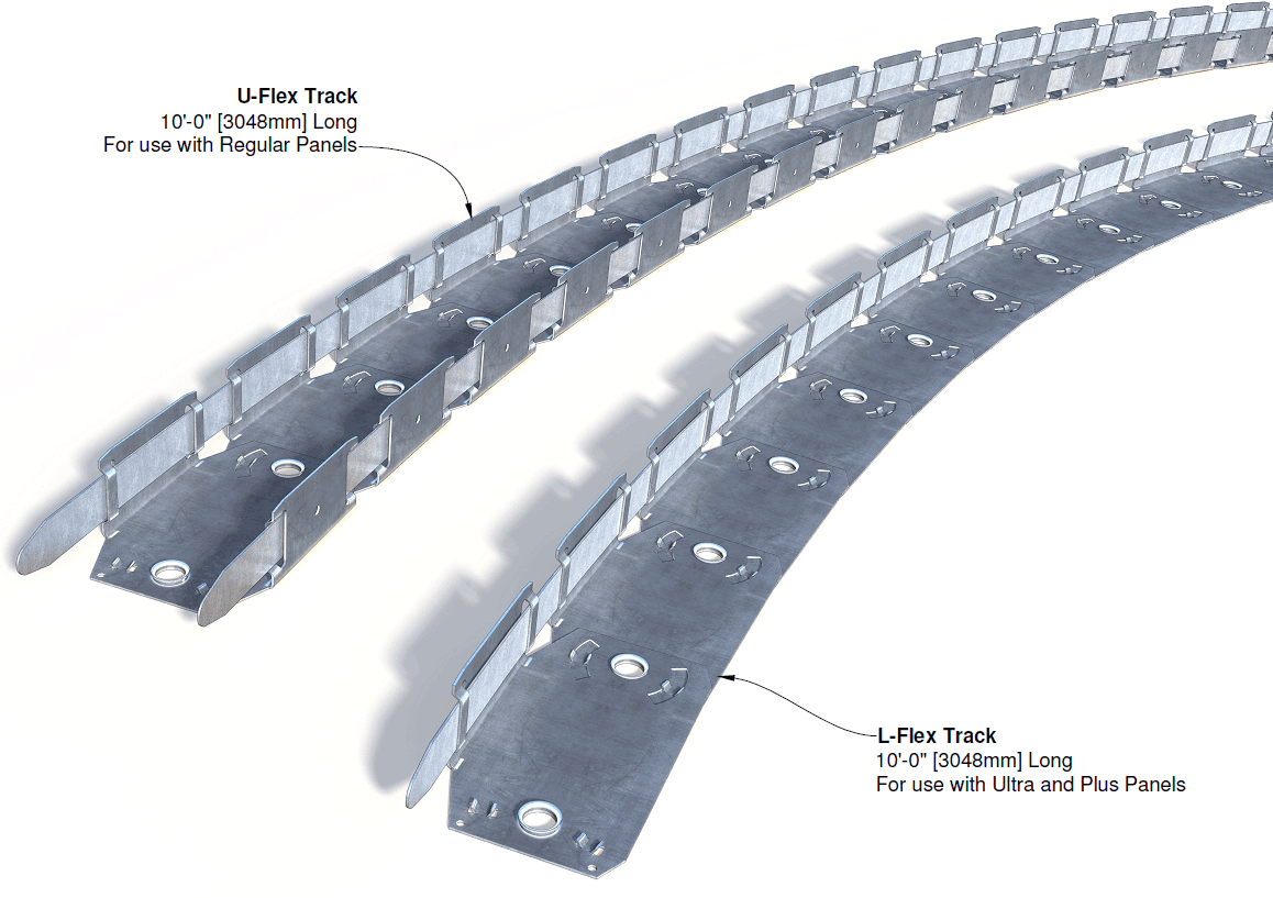 Flexible Cable Track : Insulated concrete forms metal tracks and top ties
