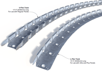 U-shaped Flex Track for regular panels