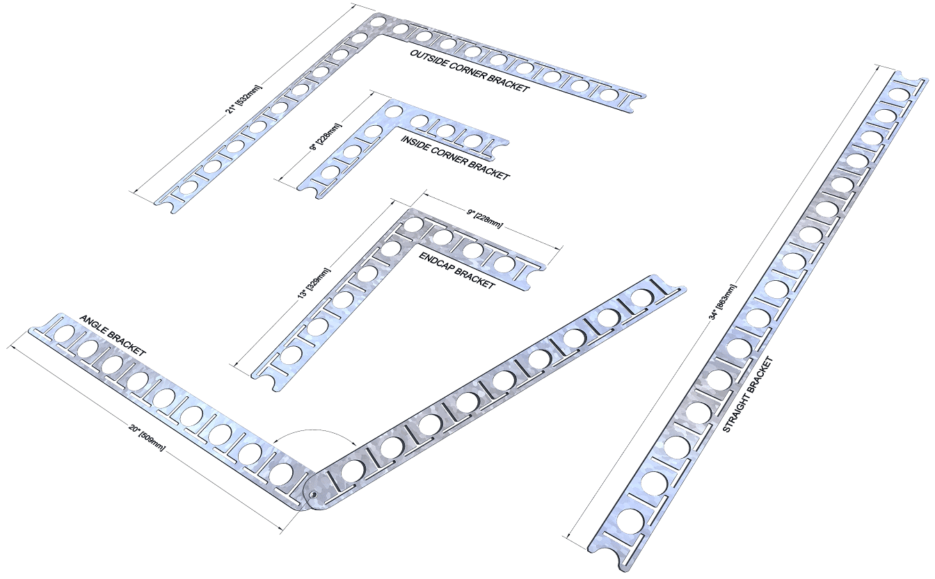 strongest icf corners and angles using metal brackets