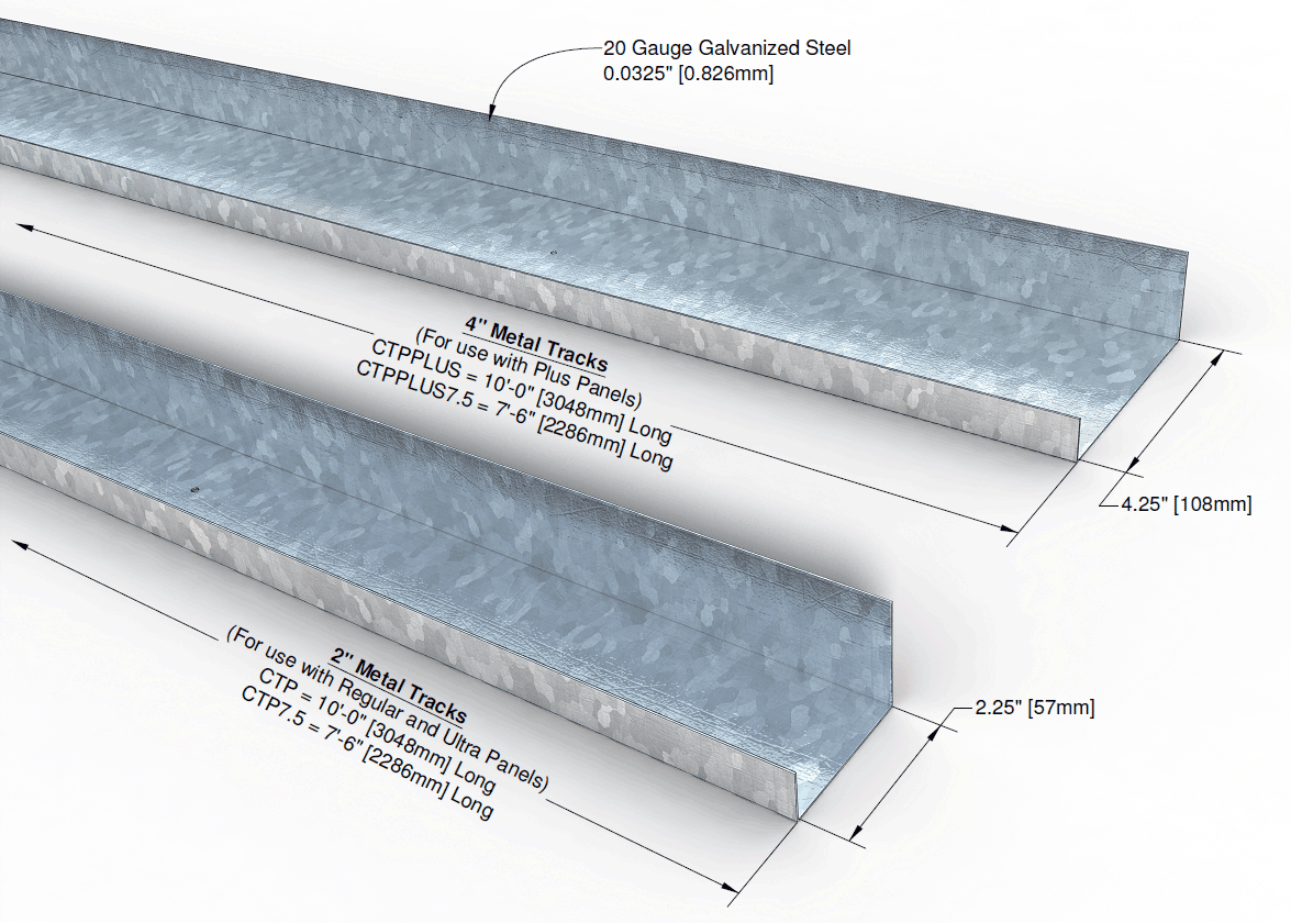 Quad-Lock ICF: Metal Tracks and Top Ties