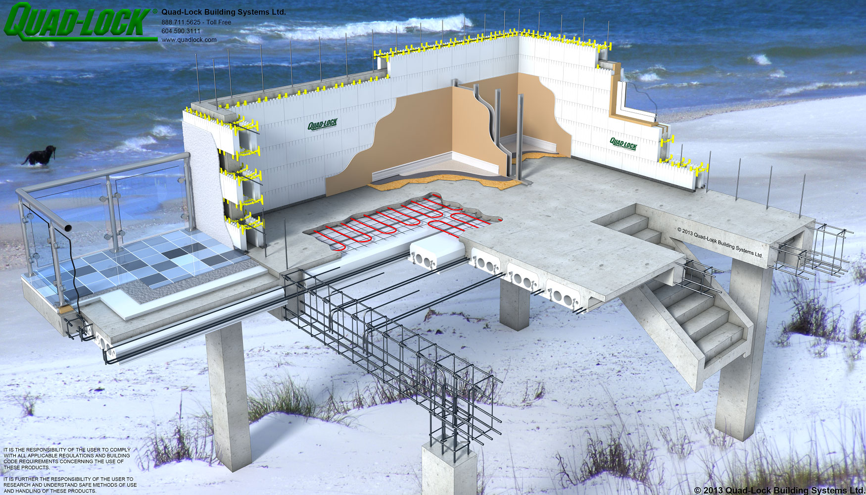Insulated concrete forms icf 3d drawings for Building a concrete house