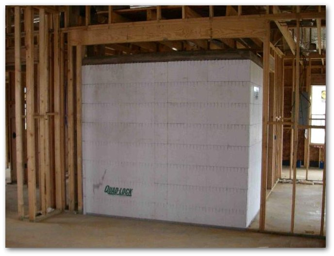 Index of images insulated concrete forms for Vault room construction