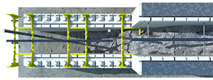 R-28 ICF wall topview
