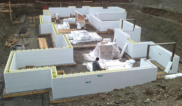 More awards and efficient condos with insulated concrete forms for Foam block wall construction