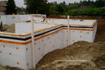 ICF Dampproofing with Dimple Board