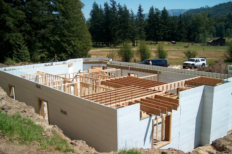 House construction icf house construction for Concrete icf garage plans