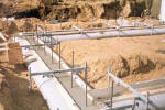 Forming Concrete Footings with poly forms