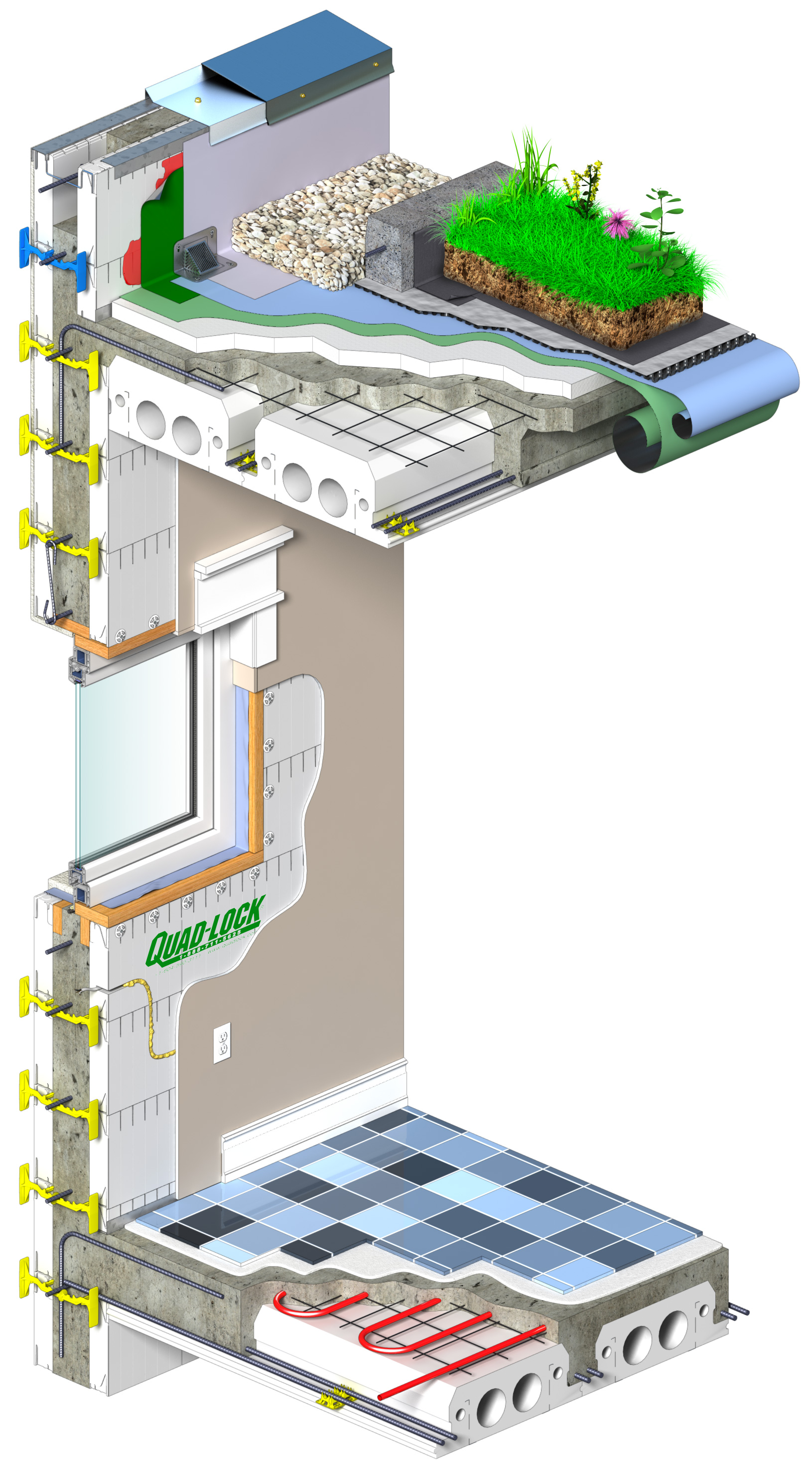 Photos floors roofs and tilt up with insulating for Insulated concrete forms