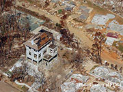 Elevated ICF Home under construction survived Flood and Winds from Katrina