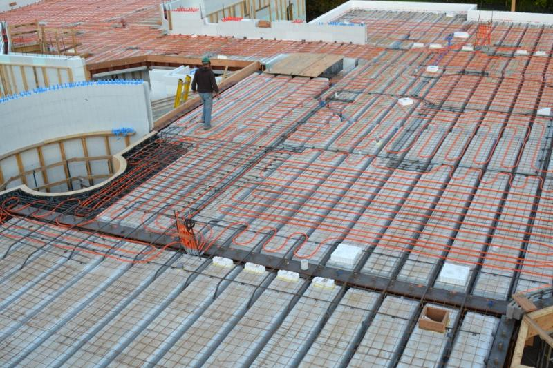 Energy efficiency of buildings with insulated concrete forms for Icf concrete floors