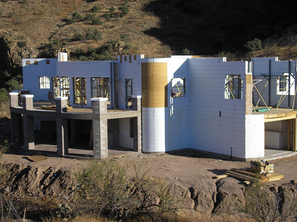 Insulated concrete forms icf salero home photos for Building a house in arizona