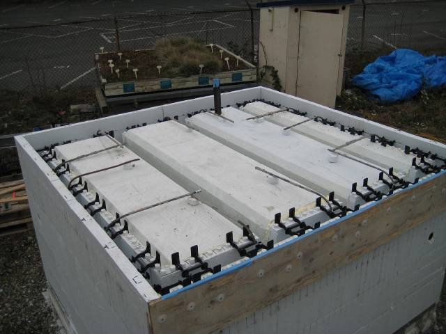 Green roofs with insulated concrete forms thermal for Icf concrete roof