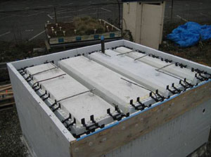 Green Roof Research - Quad-Lock REM-10 under construction