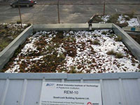 Green Roof Research - ICF Structure in winter