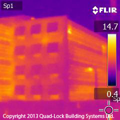 FLIR image of conventional office