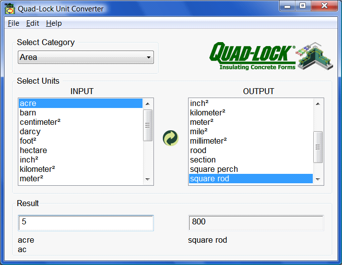 Quad-Lock Unit Converter