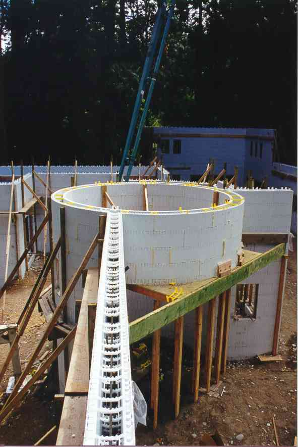 Insulated concrete forms icf construction detail photos for Insulated concrete form house