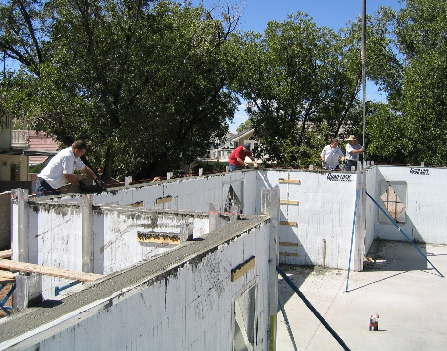Insulated concrete forms icf photo gallery for Icf concrete roof