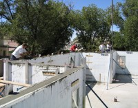 Quad-Lock Insulated Concrete Forms - Concrete Pour