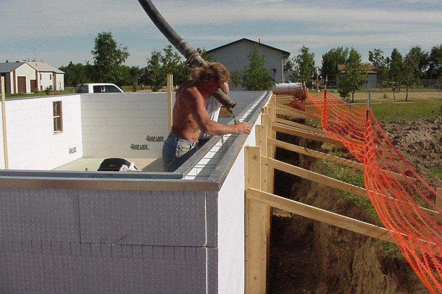 Marvelous Styrofoam Concrete Wall Forms #10: ... ICF Concrete Pour ...