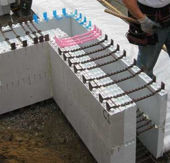 Net zero energy homes insulated concrete forms for Foam concrete forms