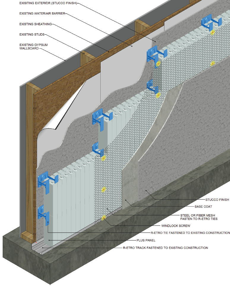 Wood Wall Construction : New insulation system aimed at renovation diy markets