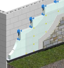 R-ETRO Details - CMU Walls, Stucco or Stone Finish