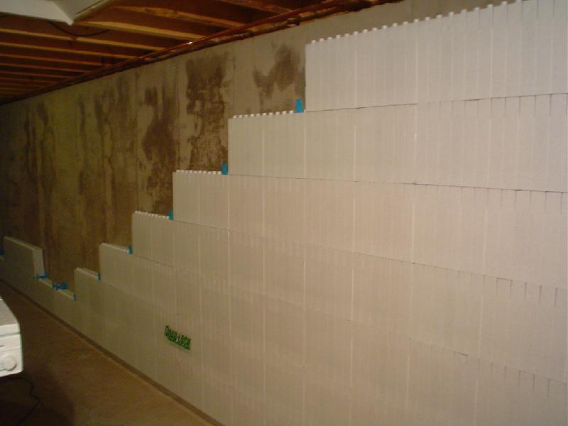 Finish Interior Block Walls : Life cycle assessment icf vs wood frame basement